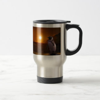 Adelie Penguin & Antarctic Sunset Travel Mug