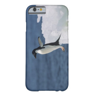 Adelie penguin leaping from iceberg barely there iPhone 6 case