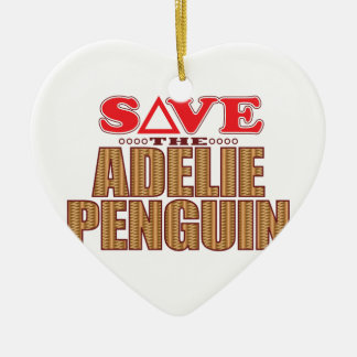 Adelie Penguin Save Christmas Ornament