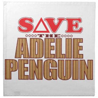 Adelie Penguin Save Napkin