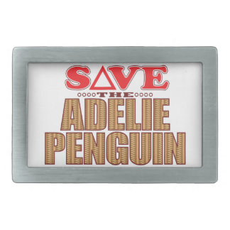 Adelie Penguin Save Rectangular Belt Buckle