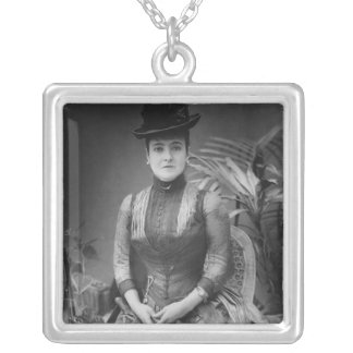 Adelina Patti, 1880 Silver Plated Necklace