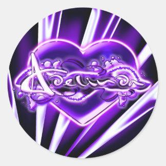 Adelinda Round Sticker