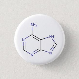 Adenine Molecule 3 Cm Round Badge