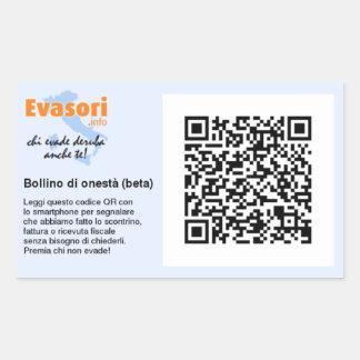 Adesivi con bollino di onestà personalizzato. rectangular sticker