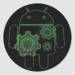 Adesivo android art play round sticker