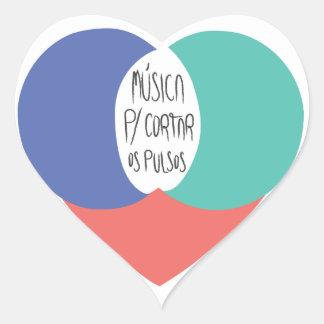 Adesivo Música Para Cortar Os Pulsos Heart Sticker