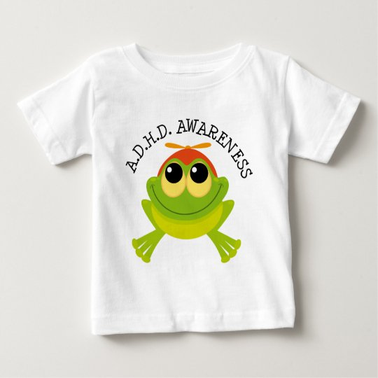 ADHD Awareness Cute Frog Baby T-Shirt