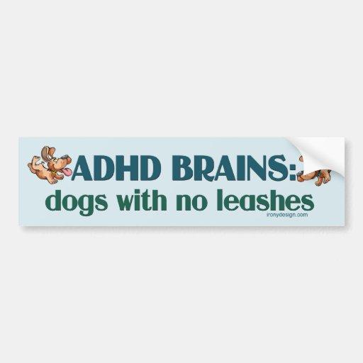 ADHD BRAINS BUMPER STICKERS
