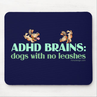 ADHD BRAINS MOUSE PAD