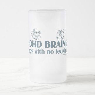 ADHD BRAINS FROSTED GLASS MUG