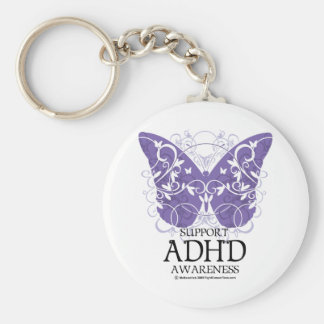 ADHD Butterfly Key Ring