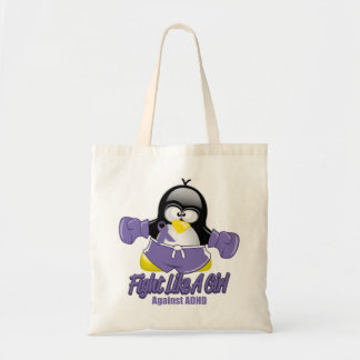 ADHD Fighting Penguin Budget Tote Bag