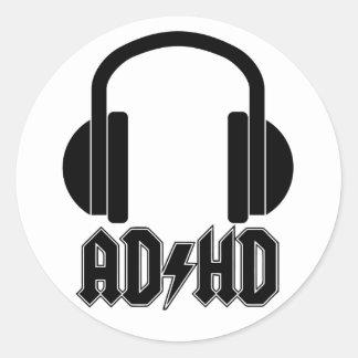ADHD Headphones (ACDC Parody) Sticker