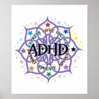 ADHD Lotus Tribal Poster