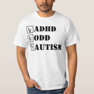 ADHD, ODD, autism; Cheque! T-shirts