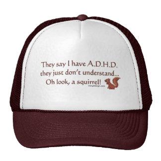 ADHD Squirrel Humor Mesh Hat