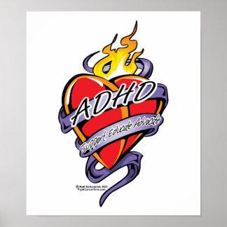 ADHD Tattoo Heart Posters