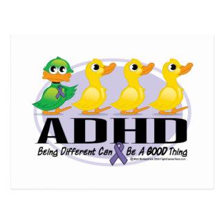 ADHD Ugly Duckling Postcard
