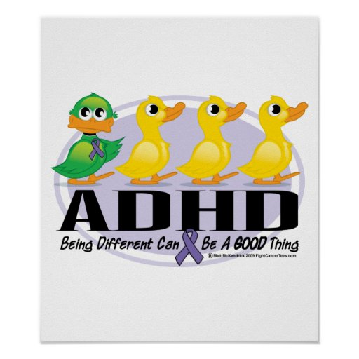 ADHD Ugly Duckling Poster