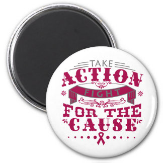 Adhesions Take Action Fight For The Cause Refrigerator Magnets