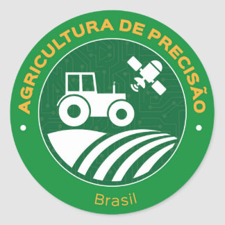 Adhesive Agriculture of Brazil Precision Round Sticker