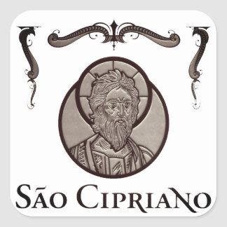 """Adhesive """"Is Cipriano (the Sorcerer - Steel layer) Square Sticker"""