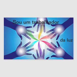 Adhesive it I am a worker of the light By Natan Rectangular Sticker