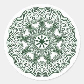 Adhesive mandala round sticker