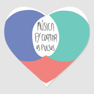 Adhesive Music To cut the Pulses Heart Sticker