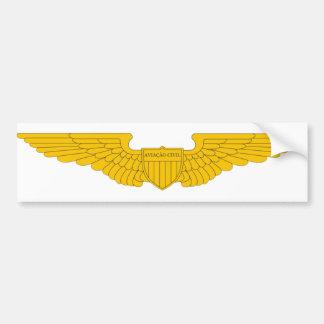 Adhesive of Civil Aviation Sea 2010 Bumper Sticker