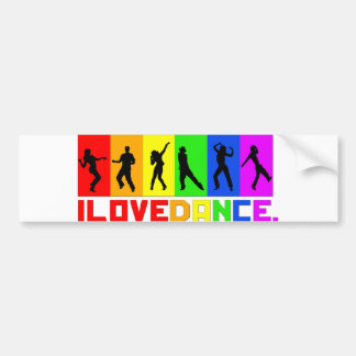 "Adhesive of for-shock ""I love dances "" Car Bumper Sticker"