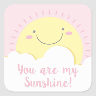 adhesive sun square sticker