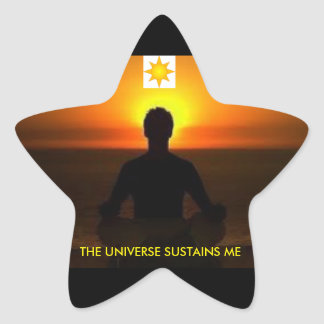Adhesive The Universe two Star Sticker