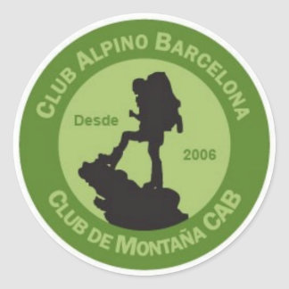 Adhesives Alpine Club Barcelona Classic Round Sticker