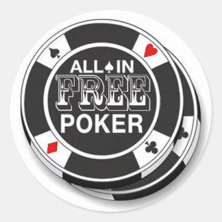 Adhesives Free Poker Round Sticker