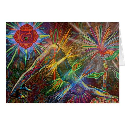 adho mukha svanasana digitally - 2012 as card