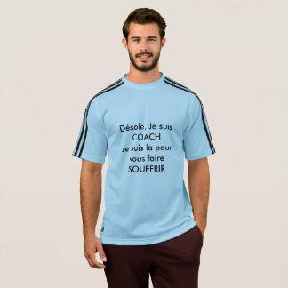 Adidas blue, Man, coach T-Shirt