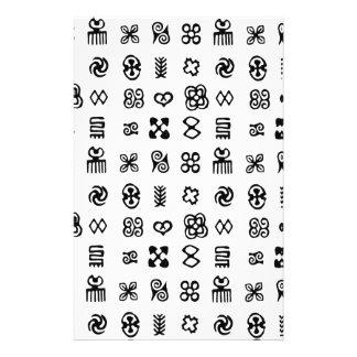 Adinkra African Symbols Customised Stationery