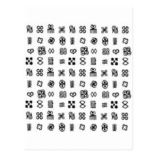 Adinkra African Symbols Postcard