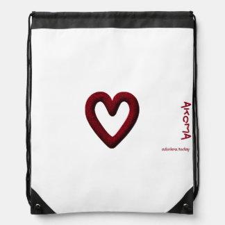 Adinkra - Akoma - Drawstring backpack