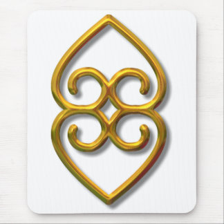 Adinkra-earth-gold Mouse Mat