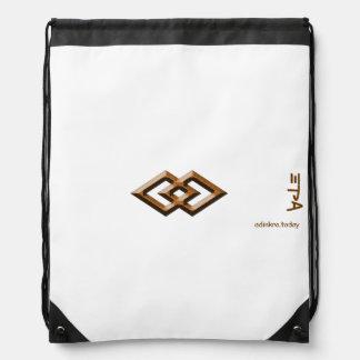 Adinkra - Epa - Drawstring backpack