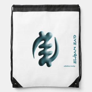Adinkra - Gye Nyame - Drawstring backpack