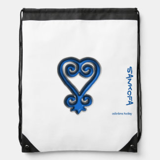 Adinkra - Sankofa - Drawstring backpack