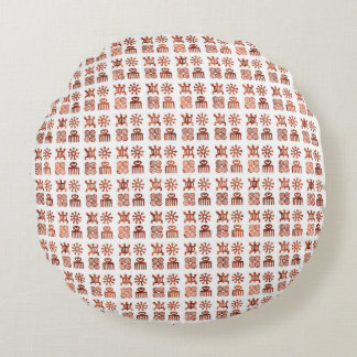 "Adinkra symbols Round Throw Pillow (16"")"