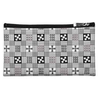 Adinkra West African textile Cosmetic Bag