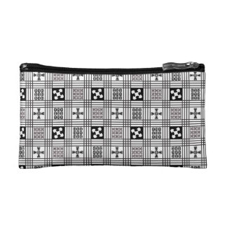 Adinkra West African textile Cosmetic Bags