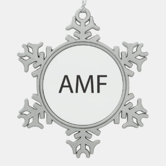 Adios Mother F.ai Pewter Snowflake Decoration