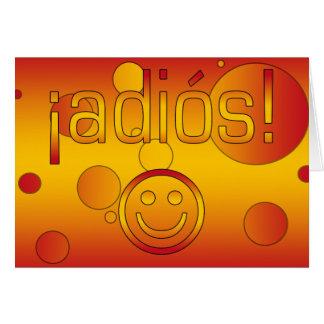 ¡Adiós! Spain Flag Colors Pop Art Greeting Card